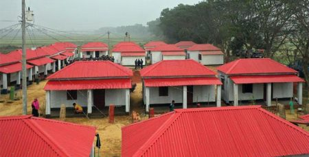 The government will provide houses for 53,000 more families as Prime Minister Sheikh hasina's Mujib Year gift.